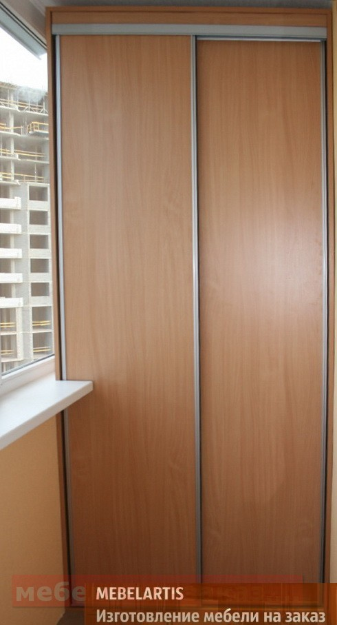 шкаф в ложию на заказ Донецк