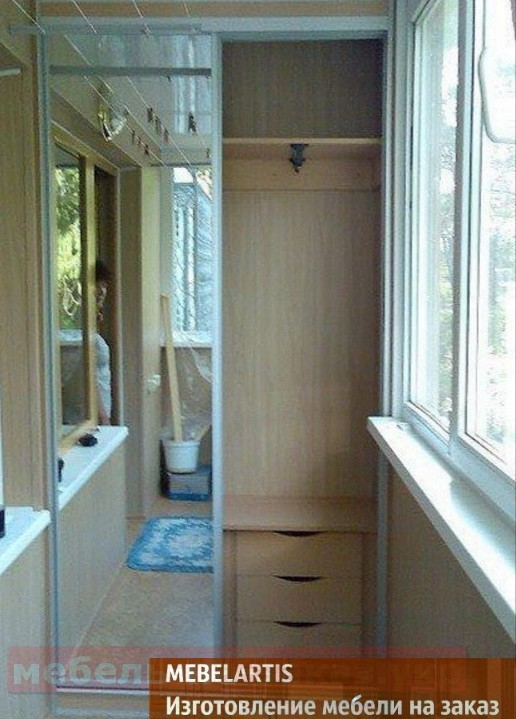 Шкафы-купе на балкон производство мебели мебельартис.