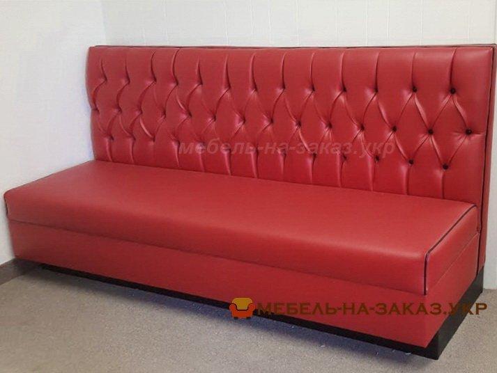 Красный прямой диван для ресторана под заказ