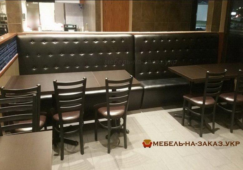 прямые диваны для кафе на заказ