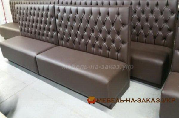 коричневые диваны для кафе на заказ