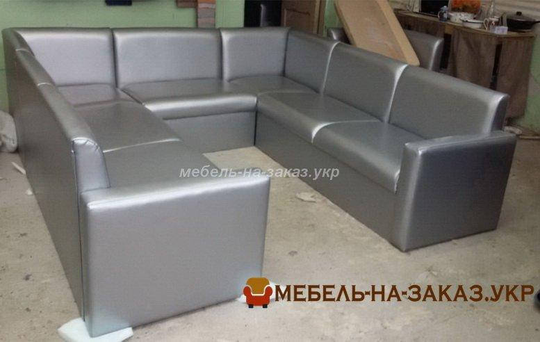 п-образный диван для кафе под заказ