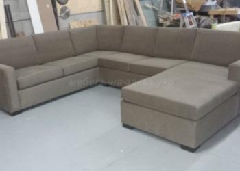 серый п образный диван