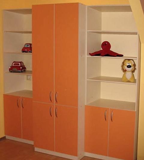 fuОранжевый детский шкаф под заказ