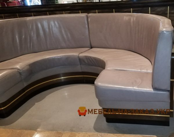 круглый диван в ресторан на заказ