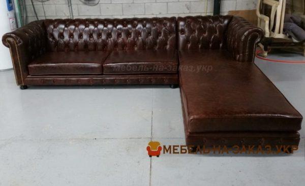 кожаный диван в ресторан на заказ