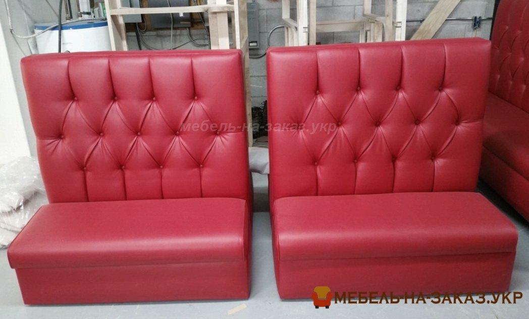 красная мягкая мебель для кафе под заказ