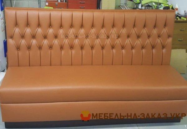 рыжий диван честер для кафе