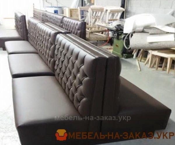 коричневые диваны для кафе под заказ