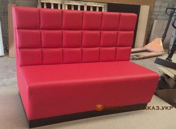 прямой красный модульный диван для ресторана