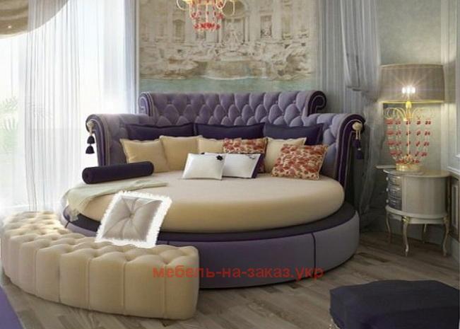 круглая кровать в классическом стиле под заказ
