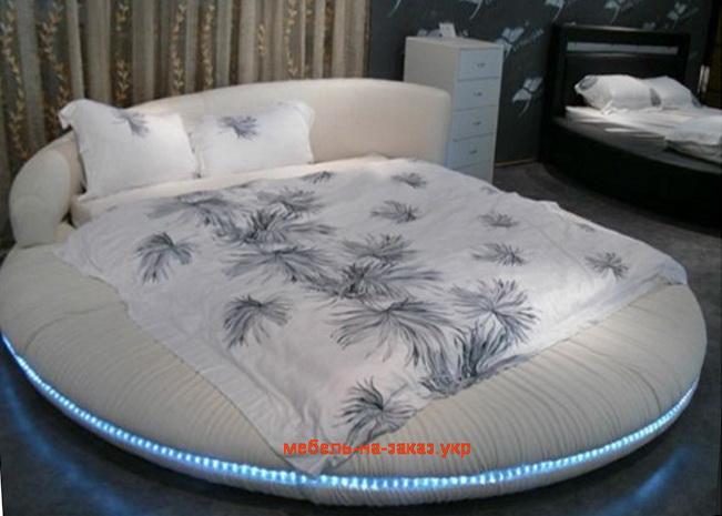 круглая кровать с подсветкой