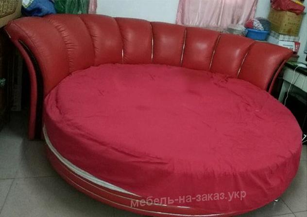 круглая кровать с мягкой спинкой в Киеве
