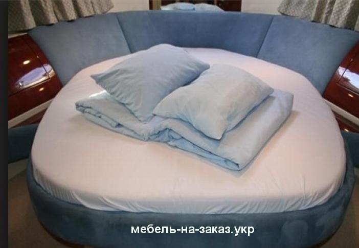 синяя круглая кровать под заказ