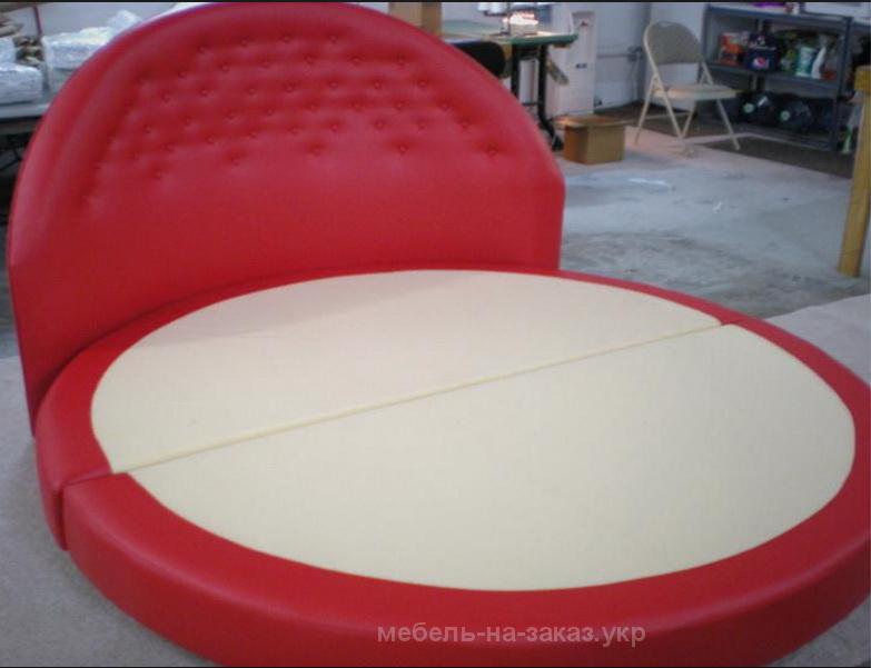 красная круглая кровать на заказ Киев