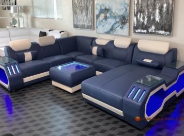 диван с подсветкой на заказ
