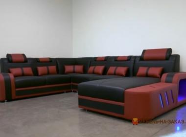 коженный модульный умный диван