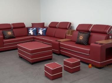модульный красный умный диван