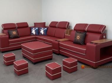 модульный красный умный диван Киев