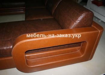 кожаный подлокотник дивана формы п