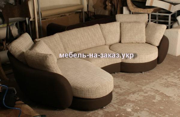 эксклюзивный круглый диван на заказ Вишневое