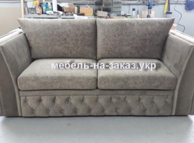 маленький прямой серый диван на заказ Киев