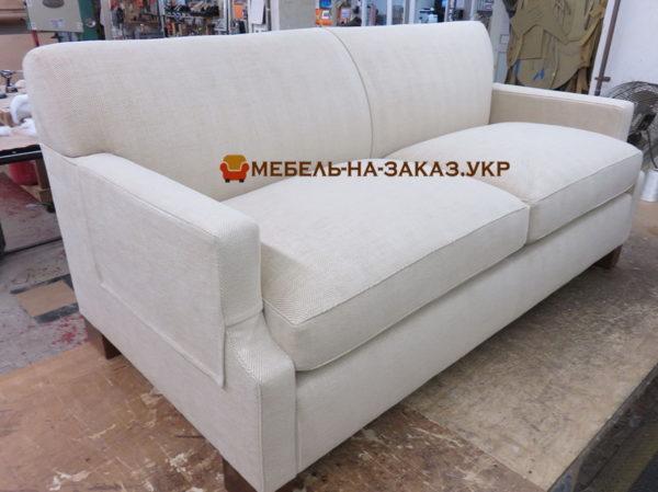 прямой белый диван под заказ шевченковский район