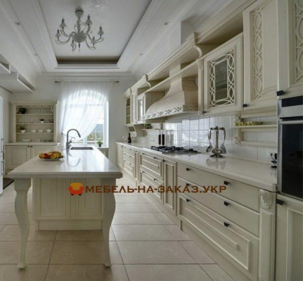 дубовая кухня на заказ Киев