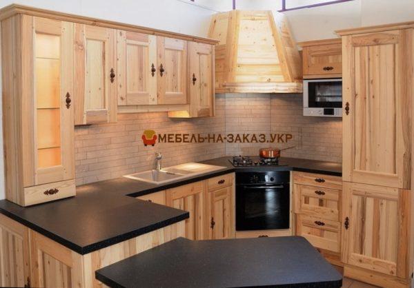 круговая деревянная кухня