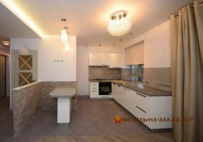кухня белого цвета на заказ