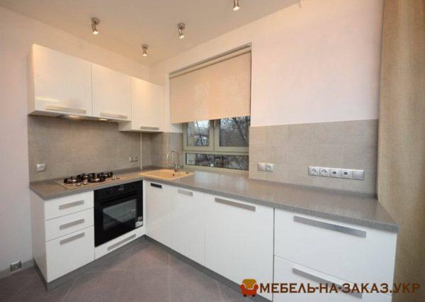кухня с белым мдф глянец