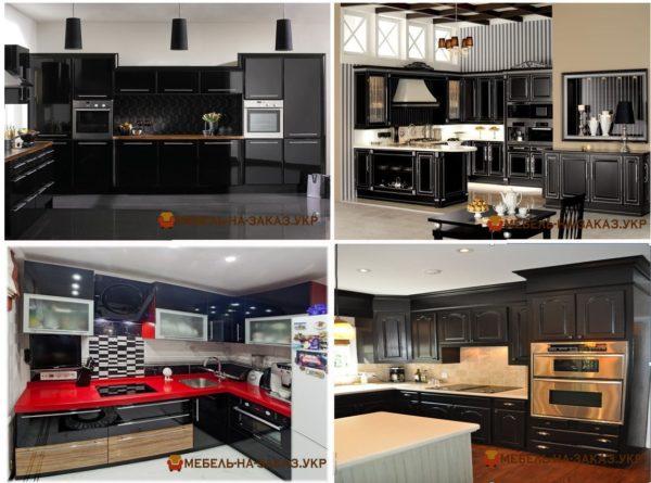 проекты черных кухонь