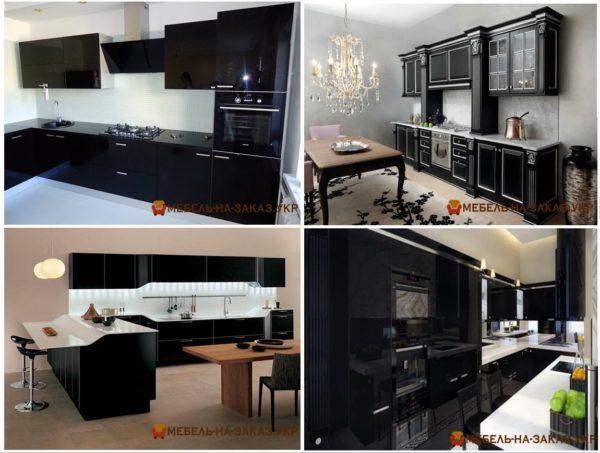 фотографии черных кухонь