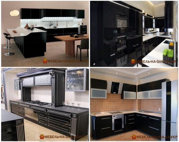дизайн чрной кухни на заказ