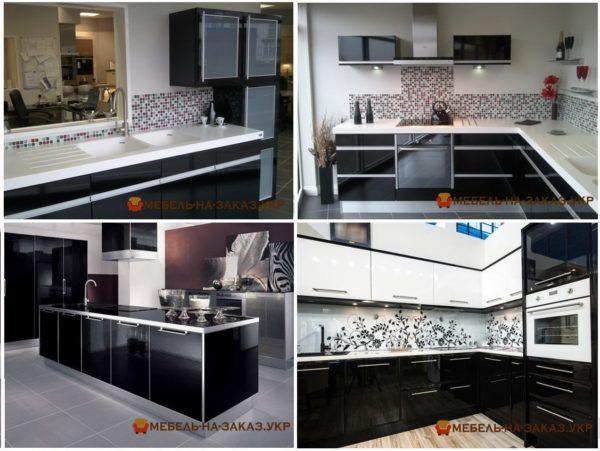 кухни с черными фасадами