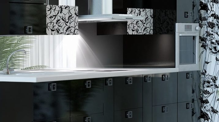 кухня с черными мдф фасадами на заказ