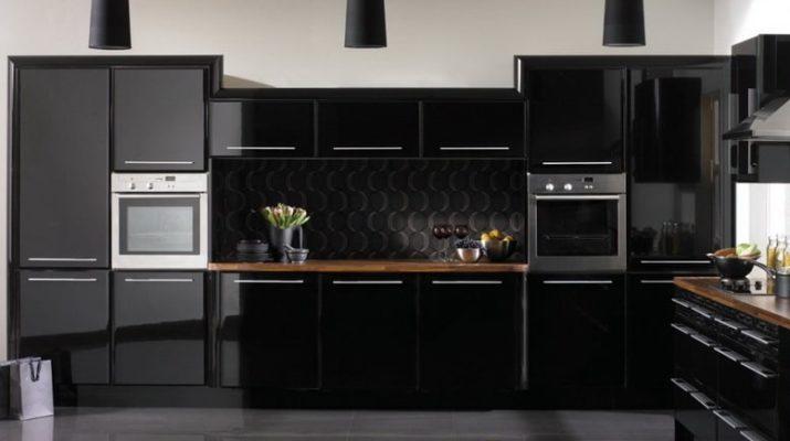 купить кухню черного цвета