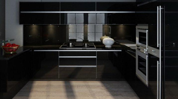 выбрать черную кухню