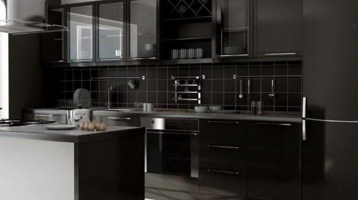 подобрать черную кухню