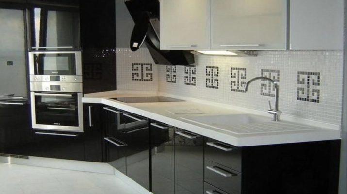 элитная черная кухня