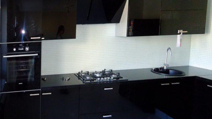 мдф кухня черная