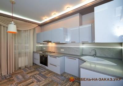 кухня с голубыми фасадами Ирпень