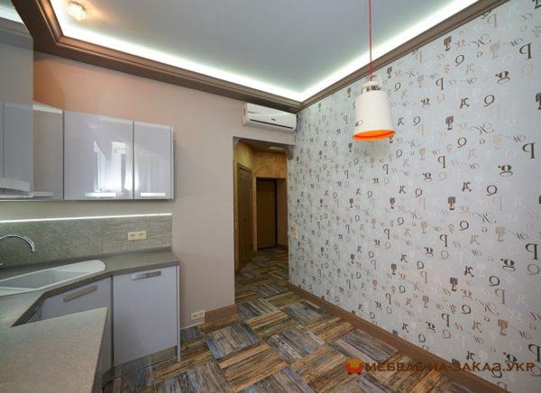 кухонная мебель белого цвета на заказ Фастов