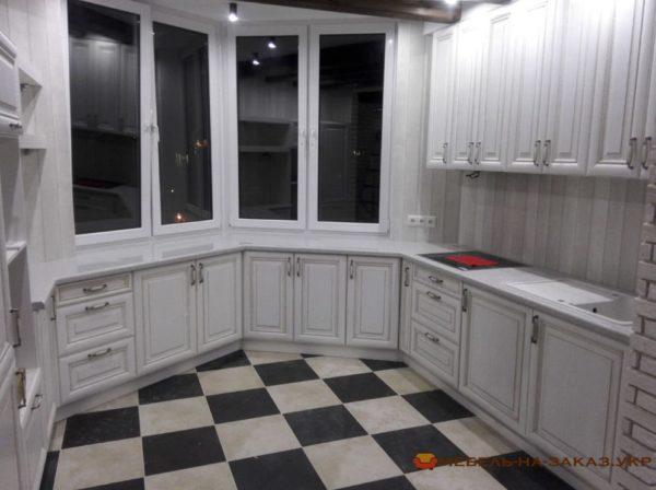кухня в эркере под заказ Киев