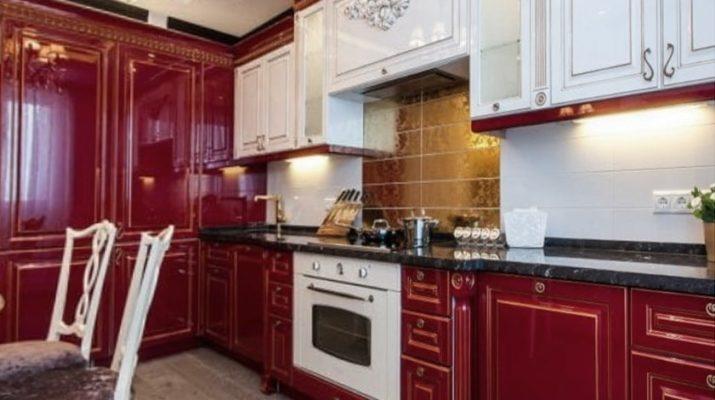 красно белая кухня на заказ Киев