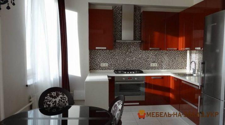 кухня из дсп красно белая