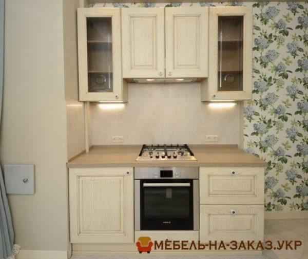 маленькая кухня прямая с МДФ фасадами