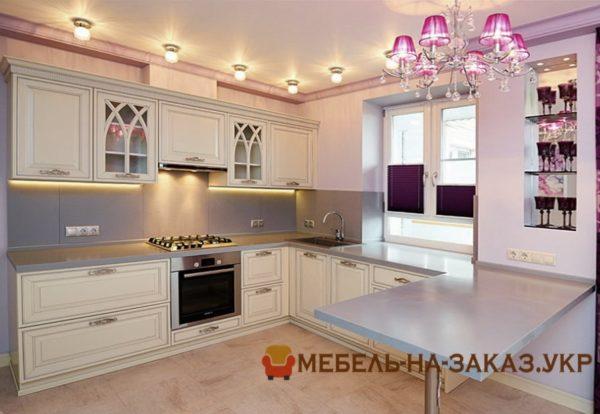 меблировка кухонноо помещения