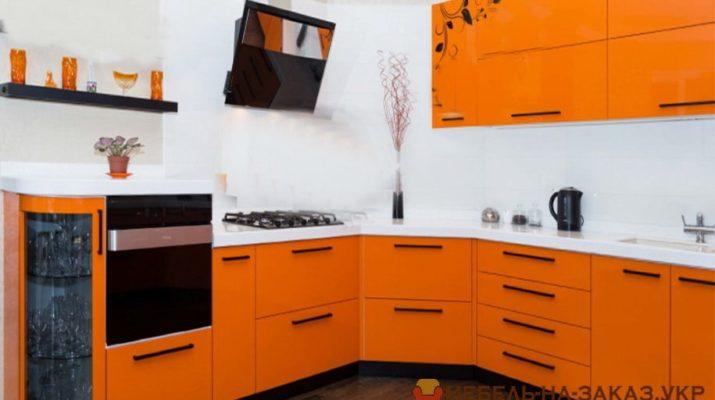 оранжевая кухня на заказ Москва