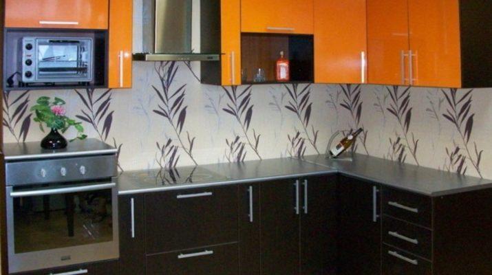 кухня оранжевого цвета под заказ в Чернигове